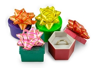 Mini Hat Boxes - Bright Colors (48-Pcs)