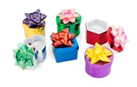 Mini Hat Boxes - Shiny Metallic (48-pcs)