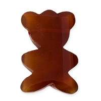 Carnelian Top Drilled Faceted Teddy Bear Bead 14x20mm (1-Pc)