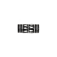 Terra Cotta Bead 9x20mm Tube Black/White (3-Pcs)