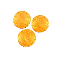 Czech Pressed Glass Button Bead 13mm Citrus Orange (30-Pcs)