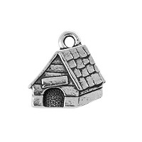 TierraCast Dog House Charm - 15mm Antique Silver Plated (1-Pc)