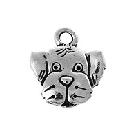 TierraCast Spot Charm - 16.5mm Antique Silver Plated (1-Pc)