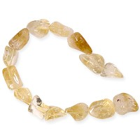 Citrine Tumbled Oval Nuggets 8-10mm (15
