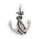 Sterling Silver Anchor Charm 26mm (1-Pc)