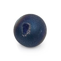 Dyed Metallic Titanium Druzy Agate Round Bead 12mm (1-Pc)