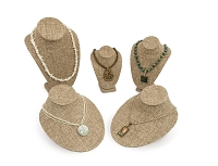 Burlap Necklace Display Bust Kit (5-Piece)