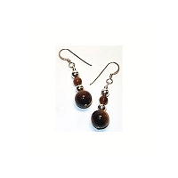 Tiger Eye Ball Earrings