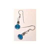 Aqua Donut Earrings