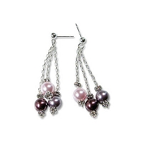 Three Pearl Earrings