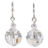 Crystal Round Earrings