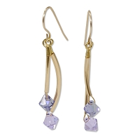 Tanzanite Twist Earrings