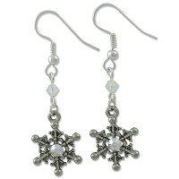 Glimmering Snowflakes Earring Project
