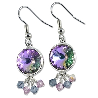 Violet Sparkle Earring Project