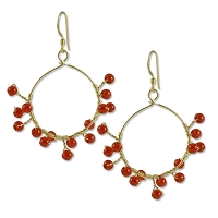 Radiant Red Earring Project