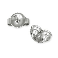 Ear Back Medium Weight 14k White Gold (1-Pc)