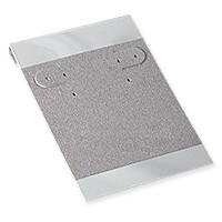 Hanging Earring Card - Grey Velour-Flocked Plastic 2x3 (50-Pcs)