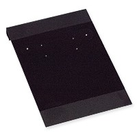 Hanging Earring Card - Black Velour-Flocked Plastic 2x3 (50-Pcs)