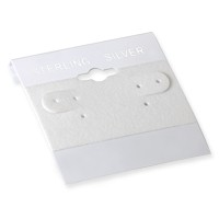 Earring Card White