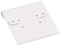 Hanging Earring Card - White Linen Paper-Covered Plastic 2x2 (100-Pcs)