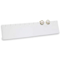 White Earring Bar Holder - 6 Pairs