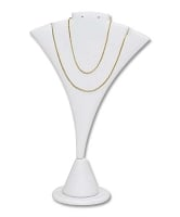 Earring and Necklace Display White
