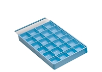 24 Compartment Storage Tray with Slide On Plastic Lid