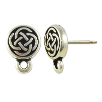 TierraCast Celtic Circle Earring 8mm Pewter Antique Silver Plated (1-Pc)