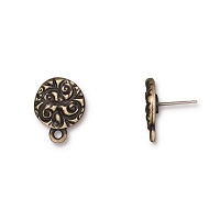 TierraCast Jardin Post Earring 8mm Pewter Brass Oxide (1-Pc)