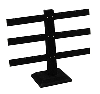Black Earring Stand T-Bar 12-Pairs