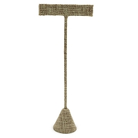 Burlap Earring T Bar Display 6-3/4