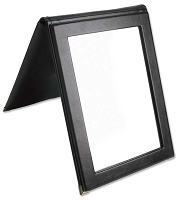 Faux Leather Folding Mirror - Black
