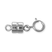 Magnetic Clasp 10x4mm Sterling Silver with 5mm Spring Ring (1-Pc)