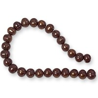 10 Strands of Freshwater Potato Pearl Antique Copper 8-9mm (16