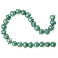 Freshwater Potato Pearls Teal Green 7-8mm (16