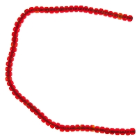 Kenya Glass Padre Bead 9mm Red Transparent (10-Pcs)