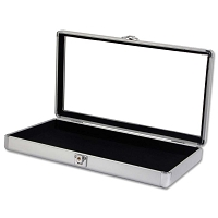 Glass Top Aluminum Jewelry Case