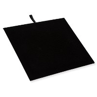 Half Size Black Velvet Display Pad