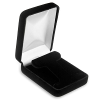 Black Velvet Hoop Earring Box