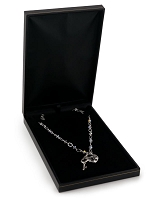 Cartier Style Necklace Box Black Leatherette