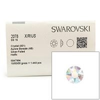 Swarovski 2078 4mm (SS16) Crystal AB Hotfix Flat Backs (Factory Pack of 1,440)