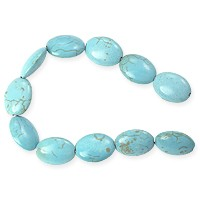 Dyed Turquoise Howlite 18x13mm Oval Beads (15