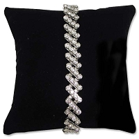 Pillow Jewelry Display 5x5 Black