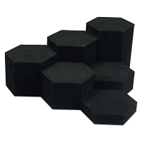 Jewelry Display 6 Piece Riser Set Black