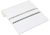 Jewelry Display Bracelet Ramp 9 Rib White