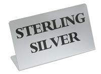 Jewelry Showcase Sign - Sterling Silver