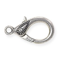 Lobster Claw Clasp - Paisley 31x17mm Pewter Antique Silver Plated (1-Pc)