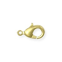 Lobster Claw Clasp - 9x5mm Satin Hamilton Gold Plated (1-Pc)