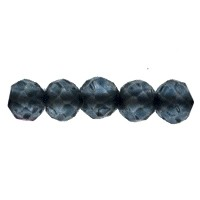 London Blue Topaz Faceted Beads 2mm (13 Inch Strand)