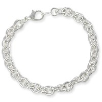 Charm Bracelet 7mm Medium Cable Link 7-1/4